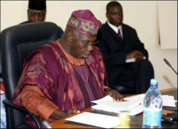 President Obasanjo Receives New Ghanaian, Other Ambassadors